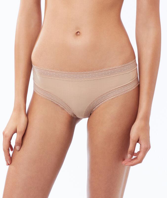 Nohavičkové kalhotky z mikrovlákna s krajkovými okraji peau.