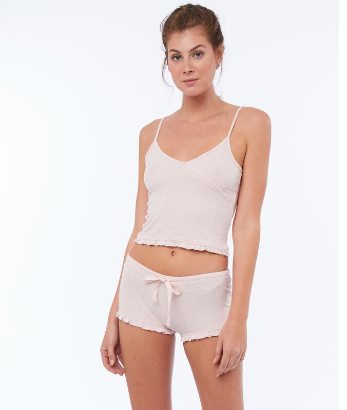 Nohavičkové kalhotky sjemného úpletu růžová.