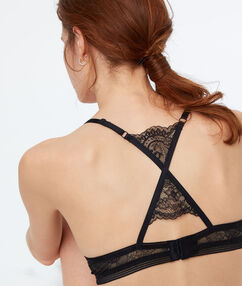 Podprsenka push up racer back noir.