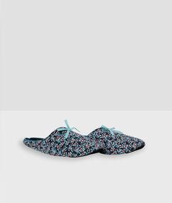 Papuče s potiskem modrá.