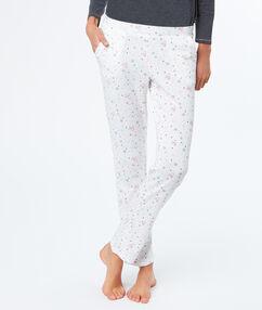 Kalhoty s potiskem tučňáci blanc.