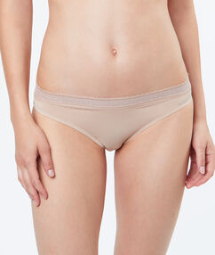 Kalhotky  - mikrovlákno a krajka béžová.