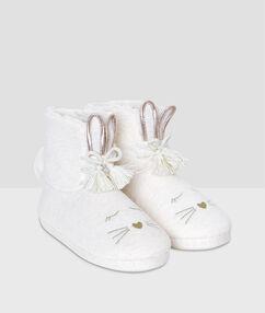Kotníkové boty ecru.