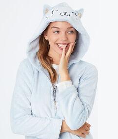 Plyšová bunda kočičí jednorožec bleu.