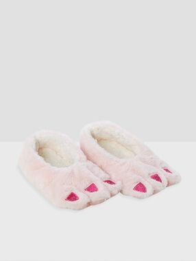Nápadné měkké pantofle růžová.