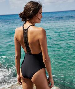 Jednodílné plavky noir.
