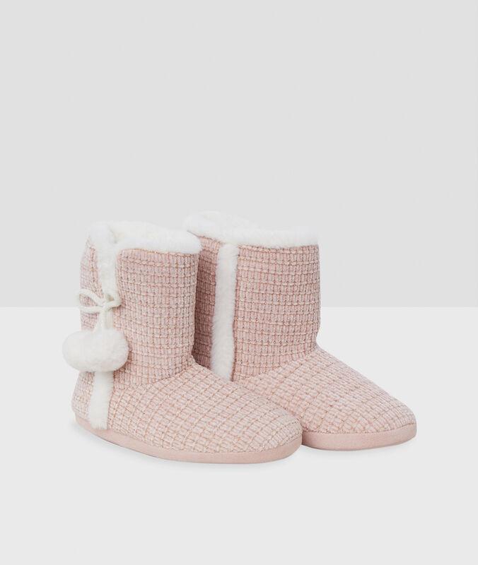 Papuče sbambulemi růžová.