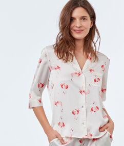 Pyžamová košile ecru.