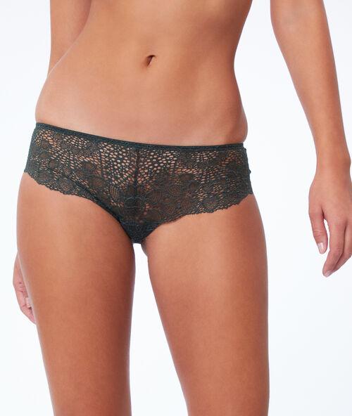 Nohavičkové kalhotky s květinovou krajkou e7eae469a0