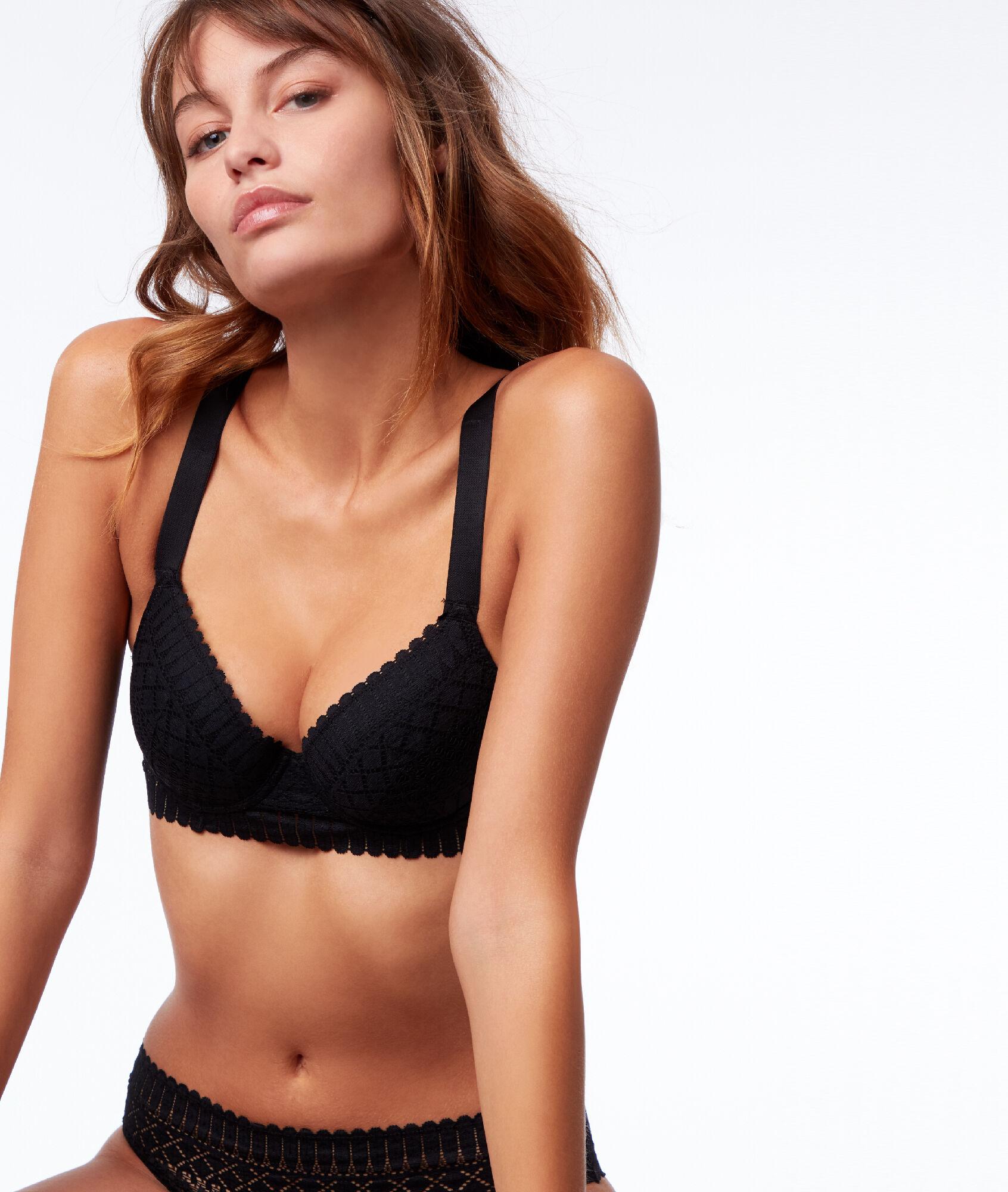 7004076e258 Bra No. 4 - Graphic lace padded bra - Etam