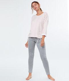 Kalhoty s kapsami na zip, střih slim gris.