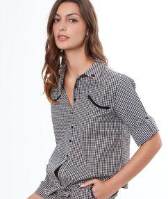 Pánská pyžamová košile noir.
