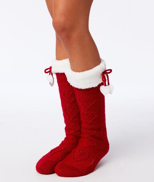 Domácí ponožky s kožešinou