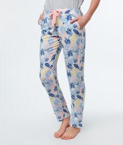 Kalhotky s potiskem s lístečky bleu.