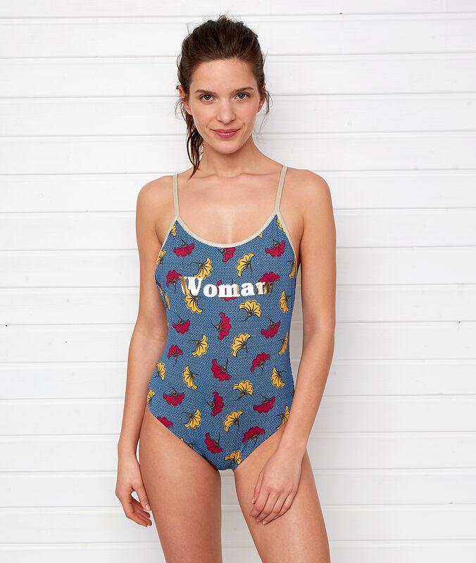 Jednodílné dámské plavky barevná.