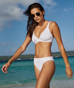 Bas de bikini simple - multiposition blanc.