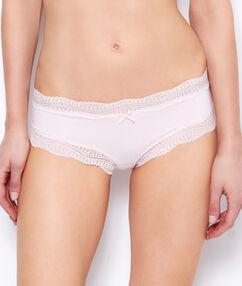 Kalhotky shorty s krajkovým lemováním růžová.