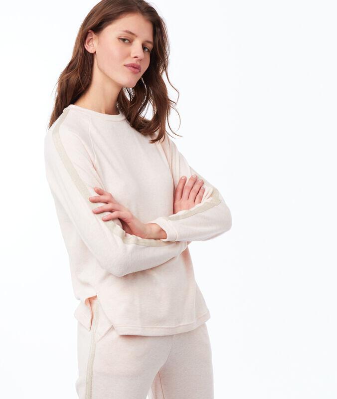 Tričko s dlouhým rukávem světle růžová.