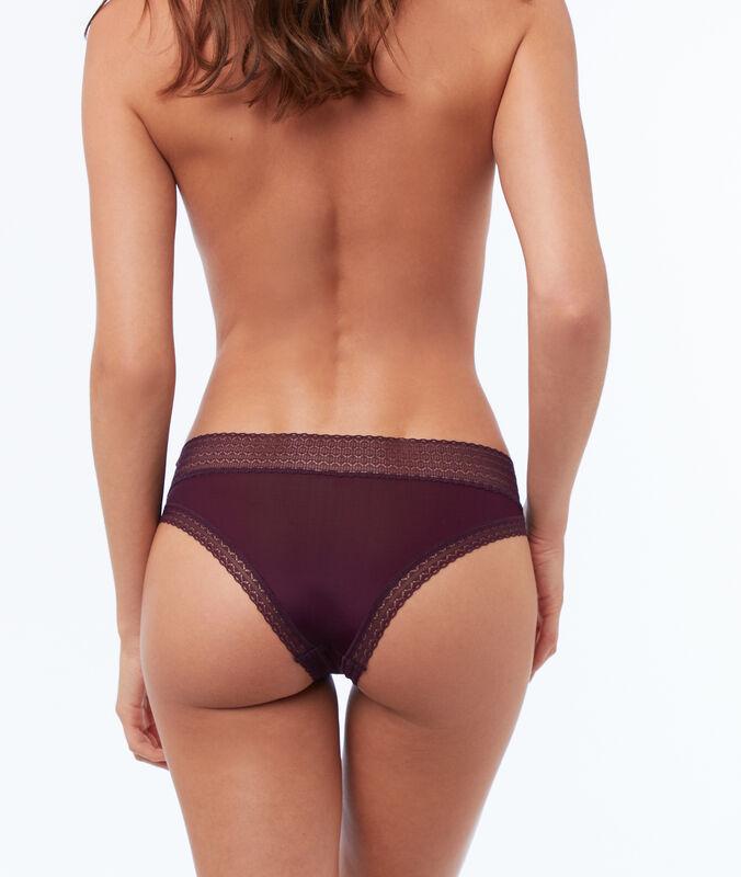 Bokové kalhotky ze dvou materiálů fialová.