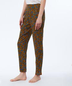 Kalhoty s etno potiskem modrá.