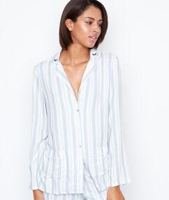 Pánské pruhované pyžamo blanc.