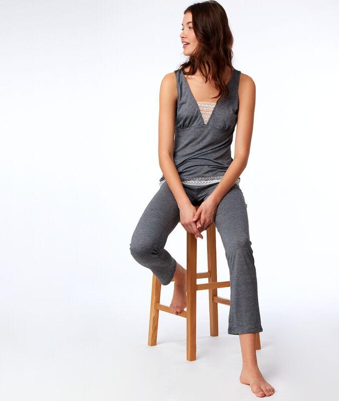 Dvoudílné pyžamo gris.