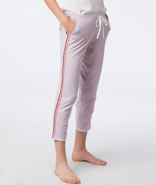 Tříčtvrteční kalhoty na zavazování a s postranními pásky