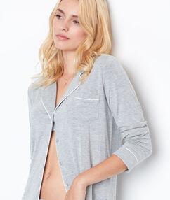 Pyžamová košile světle šedá.