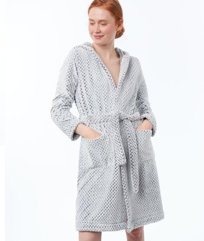 Domácí oblečení z velmi měkkého úpletu šedá.