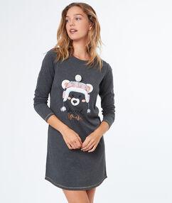 Košilka s potiskem medvěda gris.