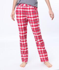 Kostkované kalhoty červená.