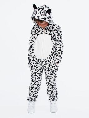 Pyžamová kombinéza dalmatin dětská ecru.