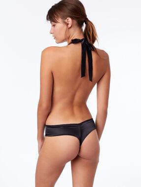 Body foulard en dentelle noir.