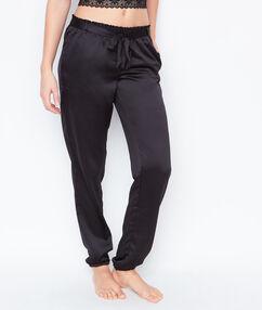 Kalhoty saténové černá.