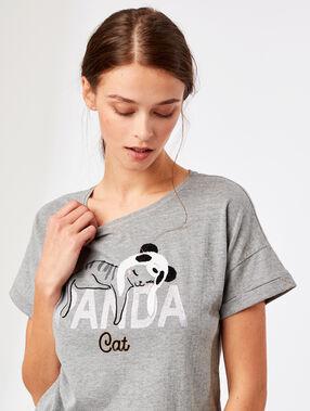 Tričko stextem antracitová.