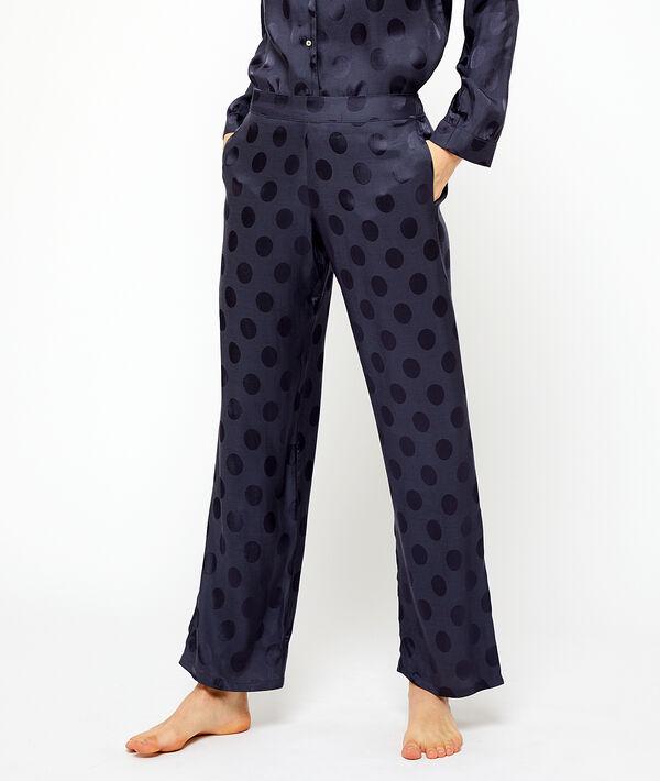 Saténové kalhoty s puntíky;${refinementColor}