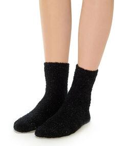 Silné ponožky černá.