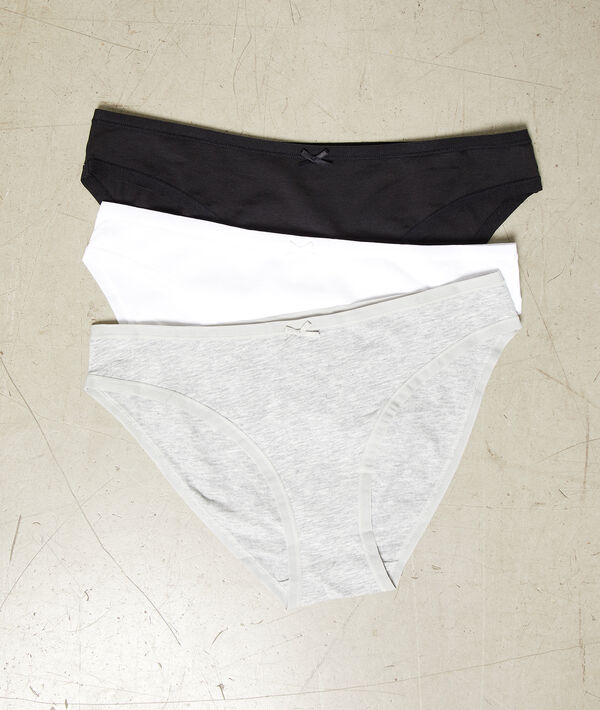 Sada 3 bavlněných kalhotek;${refinementColor}