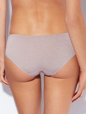 Kalhotky shorty z mikrovlákna, odstíny šedi béžová.