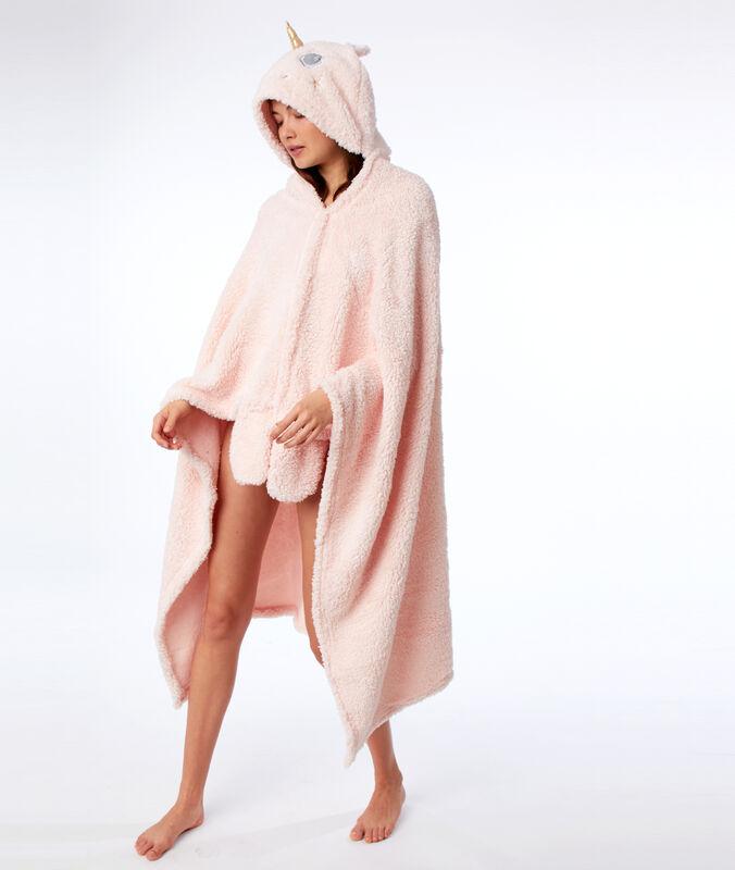 Pončo s kapucí jednorožec růžová.