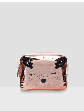 Toaletní taštička ve tvaru zvířátka růžová.