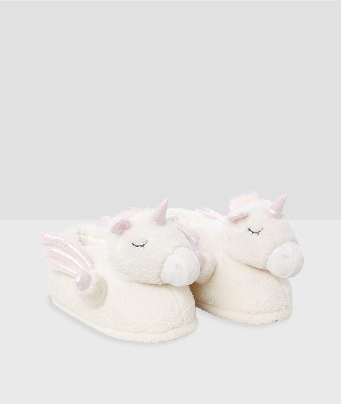 Pantofle sjednorožcem 3d béžová.