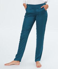 Kalhoty s puntíky bleu.