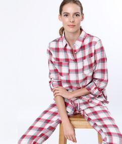 Kostkovaná pyžamová košile  červená.