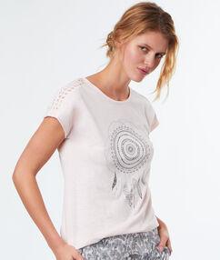 T-shirt imprimé blanc.