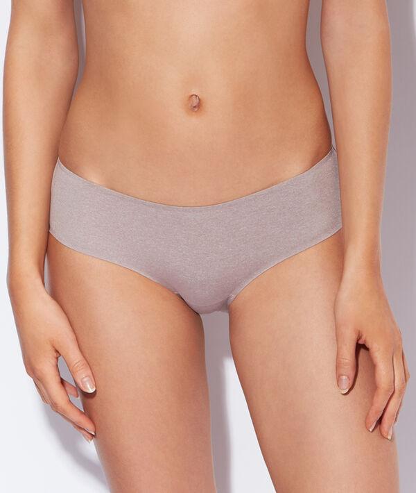 Kalhotky shorty z mikrovlákna, odstíny šedi;${refinementColor}