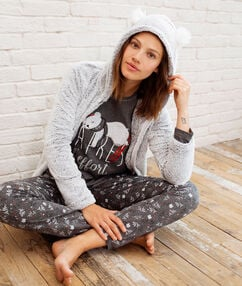 3 dílné pyžamo s nápisem gris.