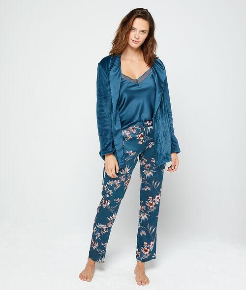 Třídílné saténové pyžamo