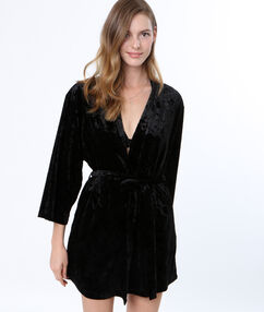 Negližé kimono sametové noir.