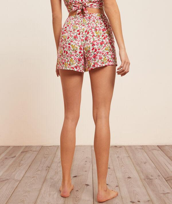 Short de pyjama imprimé fleuri;${refinementColor}
